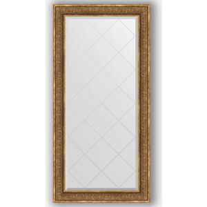 Зеркало с гравировкой поворотное Evoform Exclusive-G 79x161 см, в багетной раме - вензель бронзовый 101 мм (BY 4292)