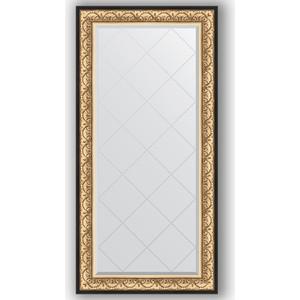 Зеркало с гравировкой поворотное Evoform Exclusive-G 80x162 см, в багетной раме - барокко золото 106 мм (BY 4294) зеркало с гравировкой поворотное evoform exclusive g 80x135 см в багетной раме барокко золото 106 мм by 4251