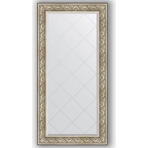 Зеркало с гравировкой поворотное Evoform Exclusive-G 80x162 см, в багетной раме - барокко серебро 106 мм (BY 4295) зеркало с гравировкой поворотное evoform exclusive g 80x135 см в багетной раме барокко золото 106 мм by 4251