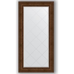 Зеркало с гравировкой поворотное Evoform Exclusive-G 82x164 см, в багетной раме - состаренная бронза с орнаментом 120 мм (BY 4300)