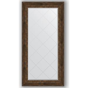Зеркало с гравировкой поворотное Evoform Exclusive-G 82x164 см, в багетной раме - состаренное дерево с орнаментом 120 мм (BY 4301)