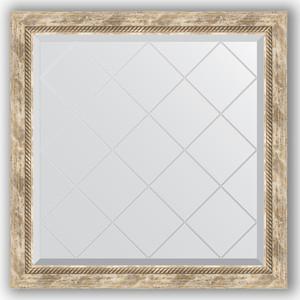 Зеркало с гравировкой Evoform Exclusive-G 83x83 см, в багетной раме - прованс с плетением 70 мм (BY 4306) зеркало с фацетом в багетной раме поворотное evoform exclusive 53x83 см прованс с плетением 70 мм by 3407