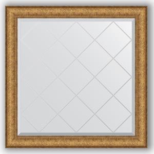 Зеркало с гравировкой Evoform Exclusive-G 84x84 см, в багетной раме - медный эльдорадо 73 мм (BY 4309) зеркало с гравировкой evoform exclusive g 64x86 см в багетной раме медный эльдорадо 73 мм by 4094