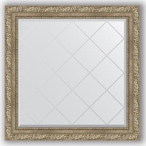 Зеркало с гравировкой Evoform Exclusive-G 85x85 см, в багетной раме - виньетка античное серебро 85 мм (BY 4315) зеркало с гравировкой поворотное evoform exclusive g 95x120 см в багетной раме виньетка античное серебро 85 мм by 4358