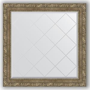 Зеркало с гравировкой Evoform Exclusive-G 85x85 см, в багетной раме - виньетка античная латунь 85 мм (BY 4317) rovertime rovertime rtm 85