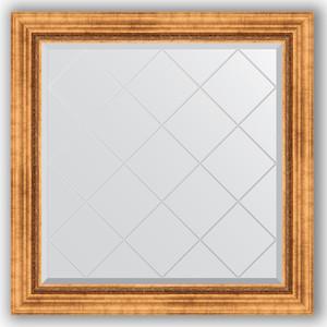 Зеркало с гравировкой Evoform Exclusive-G 86x86 см, в багетной раме - римское золото 88 мм (BY 4318) stayer 4318