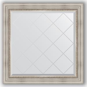 Зеркало с гравировкой Evoform Exclusive-G 86x86 см, в багетной раме - римское серебро 88 мм (BY 4319) цены