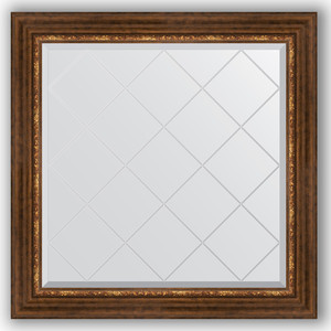 Фото - Зеркало с гравировкой Evoform Exclusive-G 86x86 см, в багетной раме - римская бронза 88 мм (BY 4320) зеркало с гравировкой evoform exclusive g 106x106 см в багетной раме римская бронза 88 мм by 4449