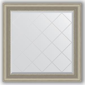 Зеркало с гравировкой Evoform Exclusive-G 86x86 см, в багетной раме - хамелеон 88 мм (BY 4321) alfa 4321