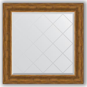 Зеркало с гравировкой Evoform Exclusive-G 89x89 см, в багетной раме - травленая бронза 99 мм (BY 4333) зеркало с гравировкой evoform exclusive g 99x124 см в багетной раме византия серебро 99 мм by 4372