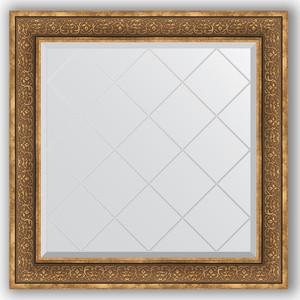 Зеркало с гравировкой Evoform Exclusive-G 89x89 см, в багетной раме - вензель бронзовый 101 мм (BY 4335)