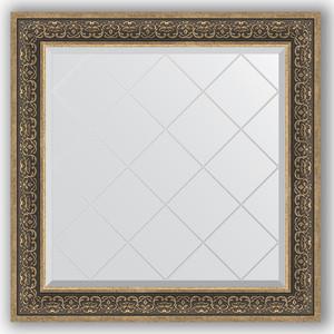 Зеркало с гравировкой Evoform Exclusive-G 89x89 см, в багетной раме - вензель серебряный 101 мм (BY 4336)