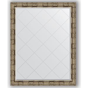 Зеркало с гравировкой поворотное Evoform Exclusive-G 93x118 см, в багетной раме - серебряный бамбук 73 мм (BY 4351) appella 4351 3014