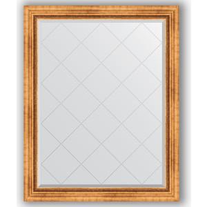 Зеркало с гравировкой поворотное Evoform Exclusive-G 96x121 см, в багетной раме - римское золото 88 мм (BY 4361) berlingo бумага для заметок c клеевым краем 7 6 х 7 6 см цвет зеленый 100 листов