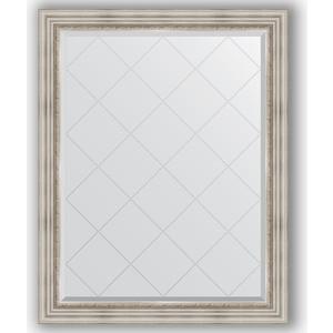 Зеркало с гравировкой поворотное Evoform Exclusive-G 96x121 см, в багетной раме - римское серебро 88 мм (BY 4362) зеркало с гравировкой поворотное evoform exclusive g 66x156 см в багетной раме римское серебро 88 мм by 4147