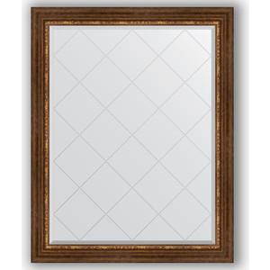 Зеркало с гравировкой поворотное Evoform Exclusive-G 96x121 см, в багетной раме - римская бронза 88 мм (BY 4363) зеркало с гравировкой поворотное evoform exclusive g 56x74 см в багетной раме римская бронза 88 мм by 4019