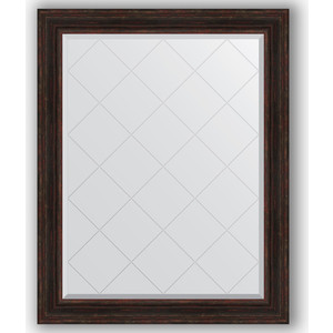 Зеркало с гравировкой поворотное Evoform Exclusive-G 99x124 см, в багетной раме - темный прованс 99 мм (BY 4377) зеркало с гравировкой поворотное evoform exclusive g 99x124 см в багетной раме византия золото 99 мм by 4371