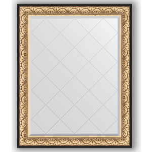 Зеркало с гравировкой поворотное Evoform Exclusive-G 100x125 см, в багетной раме - барокко золото 106 мм (BY 4380) зеркало с гравировкой поворотное evoform exclusive g 80x135 см в багетной раме барокко золото 106 мм by 4251