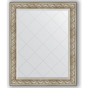 Зеркало с гравировкой Evoform Exclusive-G 100x125 см, в багетной раме - барокко серебро 106 мм (BY 4381) куплю скутер 125 см куб б у