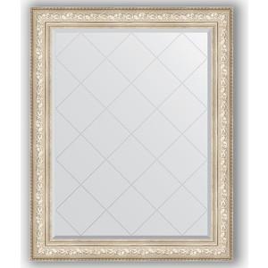 Зеркало с гравировкой поворотное Evoform Exclusive-G 100x125 см, в багетной раме - виньетка серебро 109 мм (BY 4383)