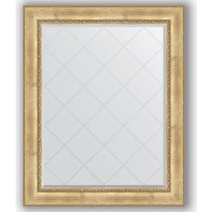 Зеркало с гравировкой поворотное Evoform Exclusive-G 102x127 см, в багетной раме - состаренное серебро с орнаментом 120 мм (BY 4385)