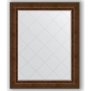 Зеркало с гравировкой поворотное Evoform Exclusive-G 102x127 см, в багетной раме - состаренная бронза с орнаментом 120 мм (BY 4386)