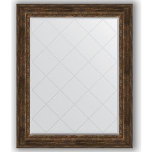Зеркало с гравировкой поворотное Evoform Exclusive-G 102x127 см, в багетной раме - состаренное дерево с орнаментом 120 мм (BY 4387) зеркало с гравировкой evoform exclusive g 102x127 см в багетной раме состаренное серебро с орнаментом 120 мм by 4385