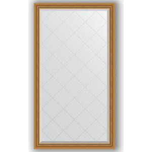 Зеркало с гравировкой Evoform Exclusive-G 93x168 см, в багетной раме - состаренное золото с плетением 70 мм (BY 4389)