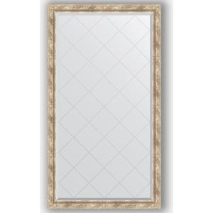 Зеркало с гравировкой поворотное Evoform Exclusive-G 93x168 см, в багетной раме - прованс с плетением 70 мм (BY 4392) зеркало с фацетом в багетной раме поворотное evoform exclusive 53x83 см прованс с плетением 70 мм by 3407