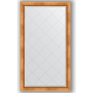 Зеркало с гравировкой поворотное Evoform Exclusive-G 96x171 см, в багетной раме - римское золото 88 мм (BY 4404)