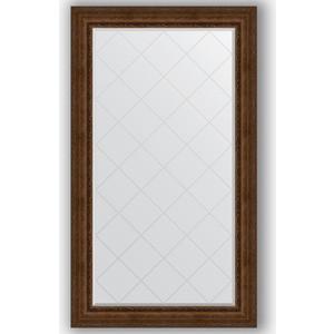 Зеркало с гравировкой поворотное Evoform Exclusive-G 102x177 см, в багетной раме - состаренная бронза с орнаментом 120 мм (BY 4429)