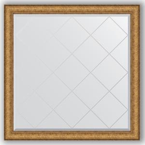 Зеркало с гравировкой Evoform Exclusive-G 104x104 см, в багетной раме - медный эльдорадо 73 мм (BY 4438) зеркало с гравировкой evoform exclusive g 64x86 см в багетной раме медный эльдорадо 73 мм by 4094