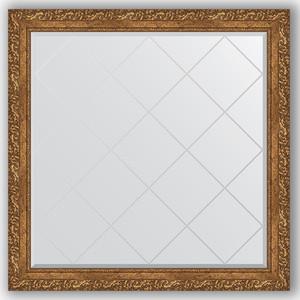 Зеркало с гравировкой Evoform Exclusive-G 105x105 см, в багетной раме - виньетка бронзовая 85 мм (BY 4443) зеркало с гравировкой поворотное evoform exclusive g 130x185 см в багетной раме виньетка бронзовая 85 мм by 4486
