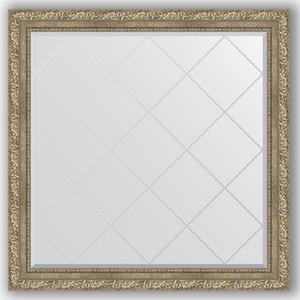 Зеркало с гравировкой Evoform Exclusive-G 105x105 см, в багетной раме - виньетка античное серебро 85 мм (BY 4444)