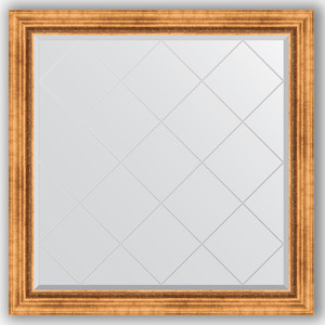Фото - Зеркало с гравировкой Evoform Exclusive-G 106x106 см, в багетной раме - римское золото 88 мм (BY 4447) зеркало с гравировкой evoform exclusive g 106x106 см в багетной раме римская бронза 88 мм by 4449