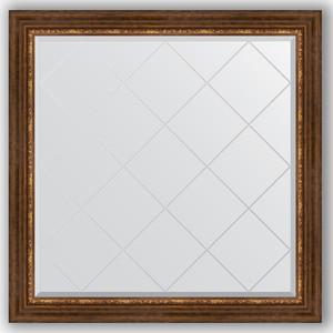 Фото - Зеркало с гравировкой Evoform Exclusive-G 106x106 см, в багетной раме - римская бронза 88 мм (BY 4449) зеркало с гравировкой evoform exclusive g 106x106 см в багетной раме римская бронза 88 мм by 4449