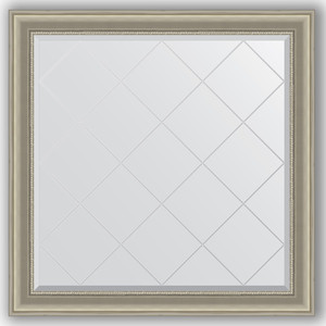 Зеркало с гравировкой Evoform Exclusive-G 106x106 см, в багетной раме - хамелеон 88 мм (BY 4450)