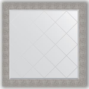 Зеркало с гравировкой Evoform Exclusive-G 106x106 см, в багетной раме - чеканка серебряная 90 мм (BY 4453)