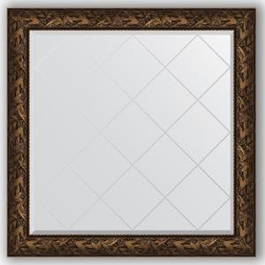 Зеркало с гравировкой Evoform Exclusive-G 109x109 см, в багетной раме - византия бронза 99 мм (BY 4459)