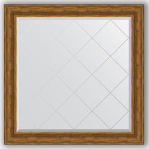Зеркало с гравировкой Evoform Exclusive-G 109x109 см, в багетной раме - травленая бронза 99 мм (BY 4462)