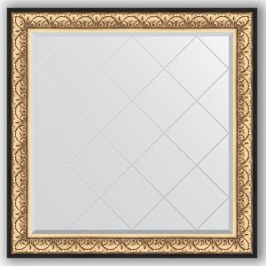 Зеркало с гравировкой Evoform Exclusive-G 110x110 см, в багетной раме - барокко золото 106 мм (BY 4466) 100pcs ao4466 sop 8 4466