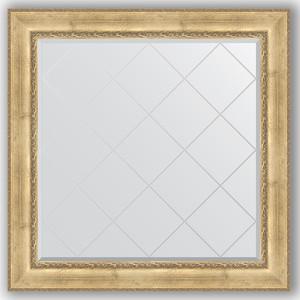 Зеркало с гравировкой Evoform Exclusive-G 112x112 см, в багетной раме - состаренное серебро с орнаментом 120 мм (BY 4471) зеркало с гравировкой evoform exclusive g 102x127 см в багетной раме состаренное серебро с орнаментом 120 мм by 4385
