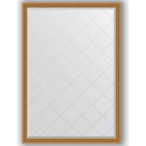 Зеркало с гравировкой Evoform Exclusive-G 128x183 см, в багетной раме - состаренное золото с плетением 70 мм (BY 4475)