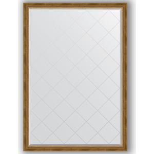 Зеркало с гравировкой Evoform Exclusive-G 128x183 см, в багетной раме - состаренная бронза с плетением 70 мм (BY 4477)