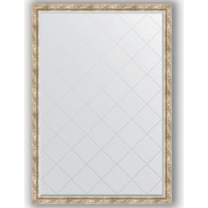 Зеркало с гравировкой Evoform Exclusive-G 128x183 см, в багетной раме - прованс с плетением 70 мм (BY 4478)