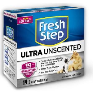 цена на Наполнитель Fresh Step Odor Shield Unscented комкующийся без ароматизатора для кошек 6,35кг (1310)