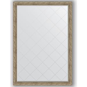 Зеркало с гравировкой поворотное Evoform Exclusive-G 130x185 см, в багетной раме - виньетка античное серебро 85 мм (BY 4487)