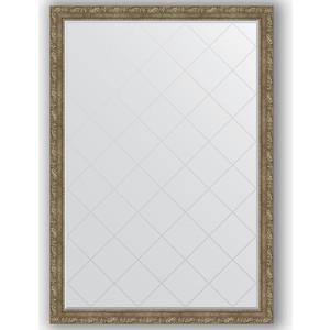 цены Зеркало с гравировкой поворотное Evoform Exclusive-G 130x185 см, в багетной раме - виньетка античная латунь 85 мм (BY 4489)