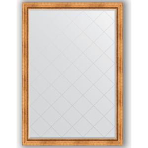 Зеркало с гравировкой поворотное Evoform Exclusive-G 131x186 см, в багетной раме - римское золото 88 мм (BY 4490) цены