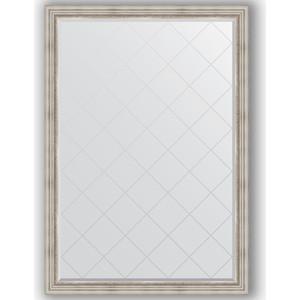 Зеркало с гравировкой поворотное Evoform Exclusive-G 131x186 см, в багетной раме - римское серебро 88 мм (BY 4491) зеркало с гравировкой поворотное evoform exclusive g 56x126 см в багетной раме римское серебро 88 мм by 4061